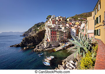 Riomaggiore village,Cinque Terre - Italy