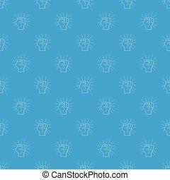 Riot pattern vector seamless blue