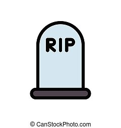 rip  flat color icon