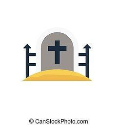 rip flat icon
