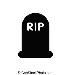 rip  glyph flat icon