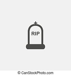 RIP Icon in a flat design in black color. Vector...
