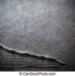 rip metal grunge background template