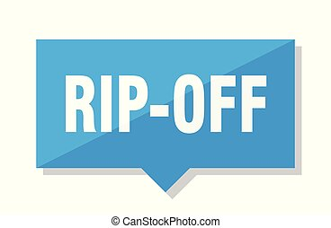 rip-off price tag - rip-off blue square price tag