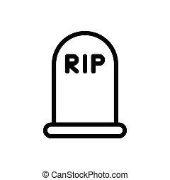rip  thin line icon