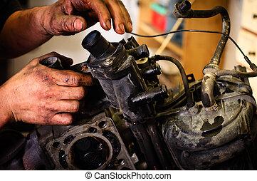 riparare, lavoratore, componente, meccanico