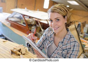 riparazione, artigiano, barca