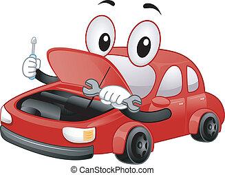 riparazione automobile, mascotte