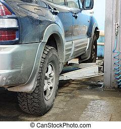 riparazione automobile, stazione