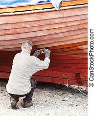riparazione, barca