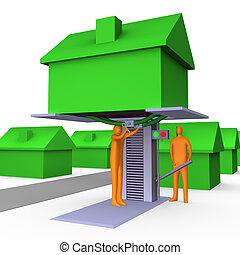 riparazione, business-home