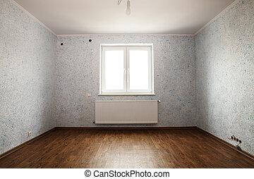 riparazione, completato, stanza