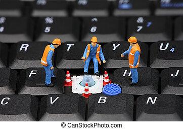 riparazione, concetto, computer