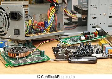 riparazione, di, uno, computer