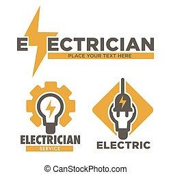riparazione, elettricista, elettrico, servizio, isolato,...
