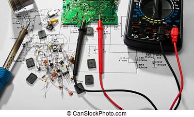 riparazione, elettronico