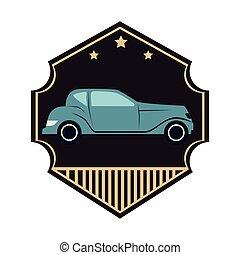 riparazione, emblema, servizio, automobile