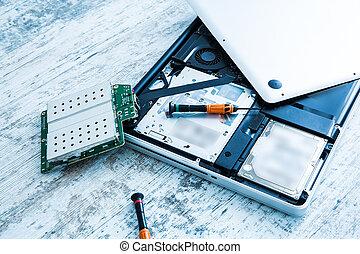 riparazione,  laptop