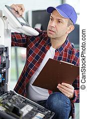 riparazione, laser, copier-printer