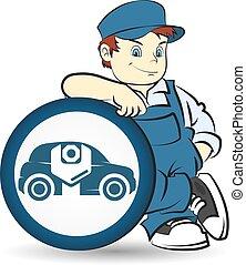 riparazione, maestro, auto