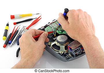 riparazione, radio