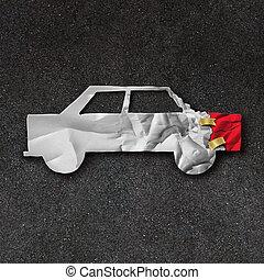 riparazione, simbolo, automobile