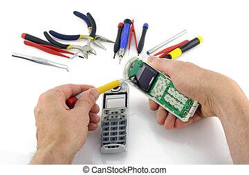riparazione, telefono