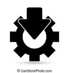 riparazione, vettore, icona