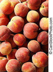 Ripe and sweet peach fruit background