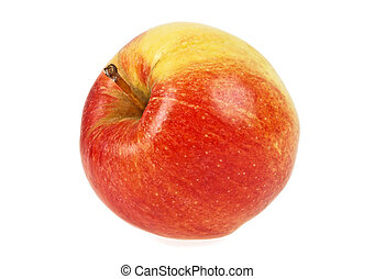 Ripe apple isolated over white background