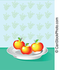ripe apples on the table