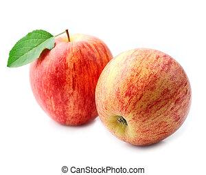 Ripe apples .