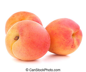 Ripe apricot fruit isolated on white background cutout