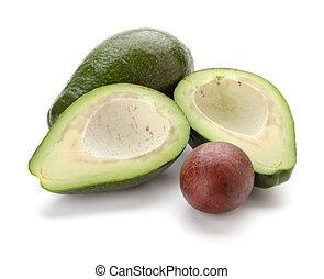 Ripe avocado. Isolated on white background