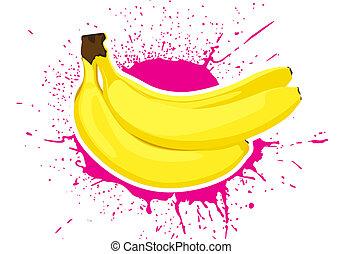 ripe bananas - illustration of group ripe vector bananas...