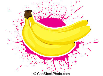 ripe bananas - illustration of group ripe vector bananas...