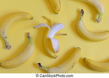 Ripe bananas set