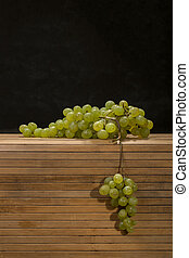 Ripe big bunch of grapes of sultana