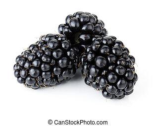 Ripe blackberry fruits