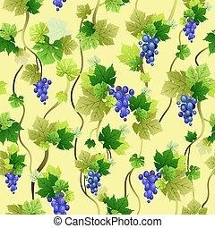 Ripe blue grapes pattern