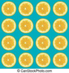 Ripe bright orange on a blue background.