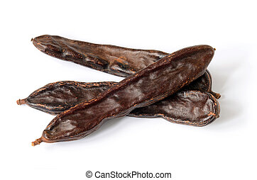 Ripe carob pods, carob powder can be used as a substitute...