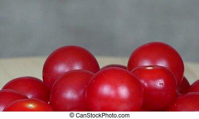 Ripe cherry tomatoes. Organic food. turntable - Ripe cherry...