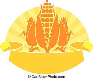 ripe corn vector