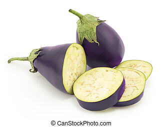 eggplant - ripe eggplant on a white background