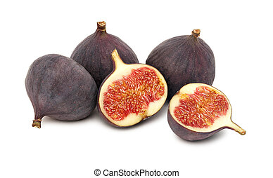 Ripe figs (isolated)