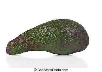 Ripe fresh avocado on a white background