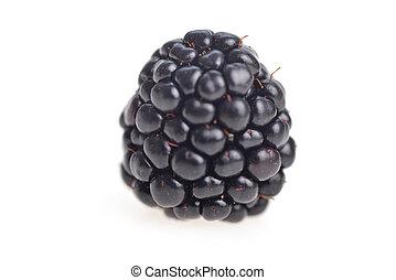 fresh blackberries - ripe fresh blackberries on white...