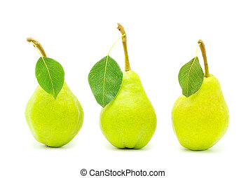 pear with leaf