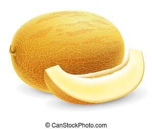 Ripe fresh honeydew melon